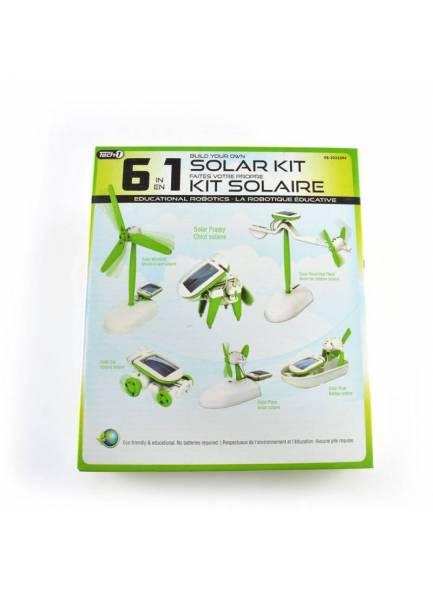 6'lı Güneş Enerjili Robot Eğitim Kiti (6-in-1 Educational Solar Kit)